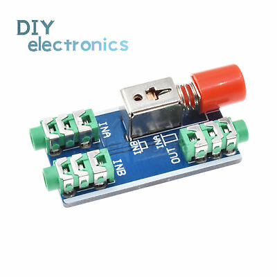 3.5mm Stereo audio Switching Board socket 2 IN 1 OUT / 1 IN 2 OUT CA