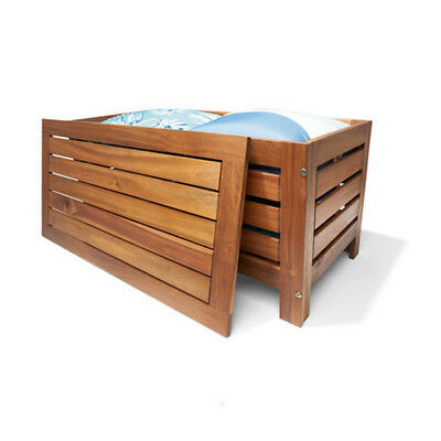 Acacia Wood Outdoor Entertainment Timber Storage Bench Chair Box 200kg Capacity