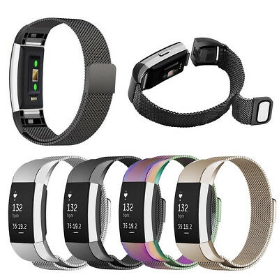 Für Fitbit Charge 2 Armband Edelstahl Replacement Wrist Band Strap Watchband