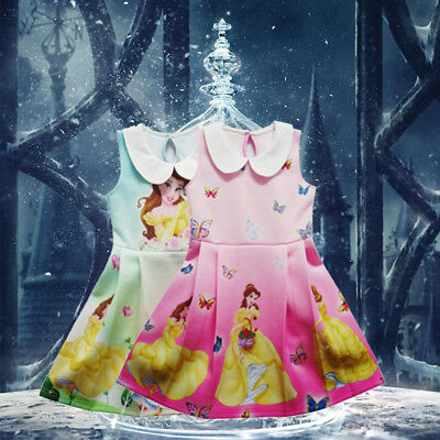 Girls Belle Beauty and The Beast Princess Costume Cosplay Party Fancy Dress Lot