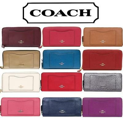 NWT Coach Crossgrain Leather Accordion Zip Wallet F54007