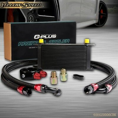 19 ROW AN10 Universal Engine Transmission Oil Cooler + Filter Relocation Kit