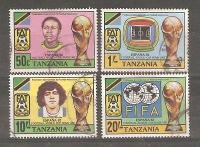 1982   Tanzania  -  Sg  346 / 349 - World Cup, Spain - Used