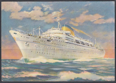 1953 Aden Postcard to Germany, Ship Schiff [ck008]
