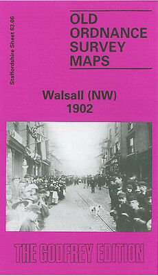 Old Ordnance Survey Map Walsall Nw 1902 Birchills Stafford Road Pouk Hill