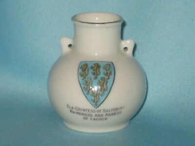 Goss Southport Vase - ELA COUNTESS OF SALISBURY FOUNDRESS AND ABBESS OF LACOCK