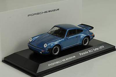 1974 Porsche 911 930 Turbo 3.0 bleu gemini Musée 1:43 Welly MAP