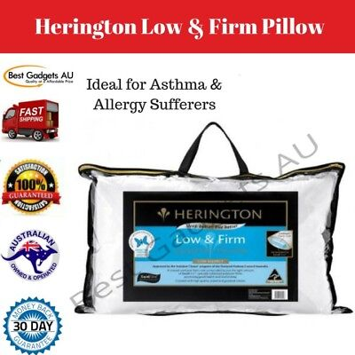 Herington Low Firm Hypoallergenic Pillow White Polyester Asthma Bed pillows NEW