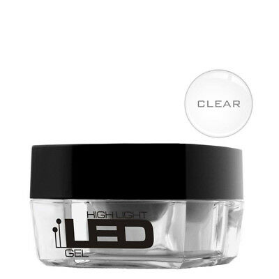 High Light Led UV Clear Gel 15g Builder File Off Medium Thick Silcare