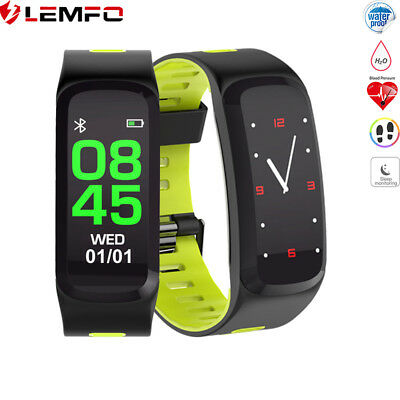 Lemfo F4 Bluetooth Impermeable Reloj Inteligente Heart Rate Fitness Podómetro