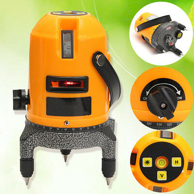 Rotary 360° Automatic Self Leveling 5 Lines 6 Points 4V1H Laser Level Measure