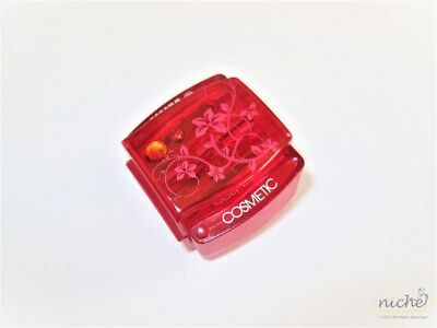 PRECISION RED DUAL SIZE COSMETIC PENCIL SHARPENER with a JEWEL - Made in GERMANY