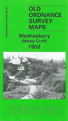 Old Ordnance Survey Map Wednesbury Mesty Croft 1902 Hall Green Burrs Colliery