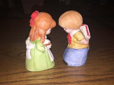 Vintage ~1981~Porcelain House of LLOYD Bell Boy/Girl Figurines
