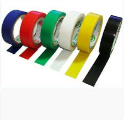 6 Pack PVC Insulation Tape Assorted Colour Flame Retardant Electrical 5M - New