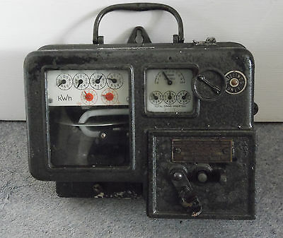 Vintage 1950/60s One Shilling Coin Electricity Meter Type BPS Serial No. c2349