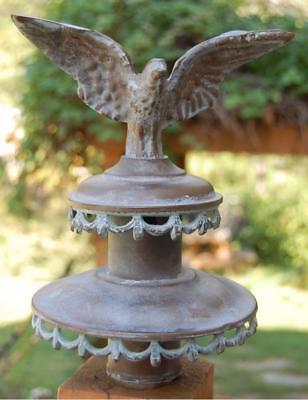 1800's ANTIQUE BRONZE AMERICAN EAGLE FINIAL TOPPER ORNAMENT TOP LANTERN BRASS