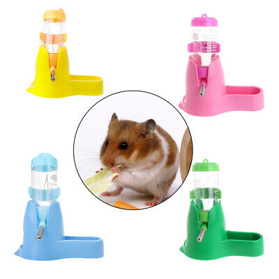 3 in 1 Pet Hamster Water Bottle Food Container Drinking Feeding Rest 80ml/125ml