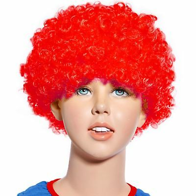 RAINBOW 80s CURLY AFRO WIG PARTY CLOWN FUNKY DISCO ADULTS KIDS HAIR FUZZ HEAD