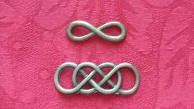 Infinity Or Double Infinity Bracelet Connector Charm - Bronze Or Antique Silver