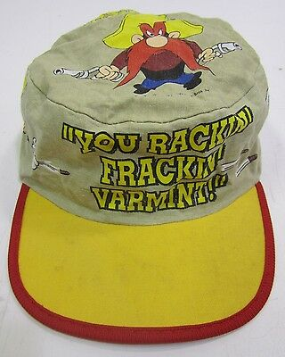 Vtg 1991 Warner Bros Yosemite Sam Rackin Frackin Varmint Mao Private Cap Hat