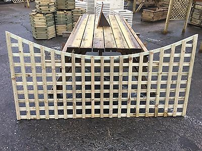 6x3 Concave Standard Arched Dome Trellis Fence Topper Lattice RAW RRP £30