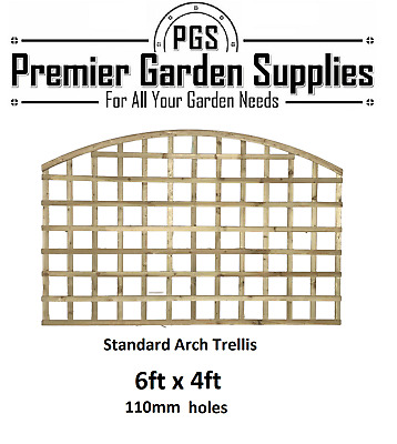 6x2 Heavy Privacy Arched Dome Trellis Fence Topper Lattice TREATED Wood RRP £35