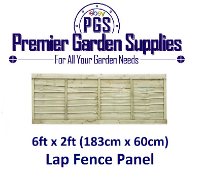 Brand New 6ft X 2ft Larch Lap Fence Panel Garden Wooden Fencing RRP £20