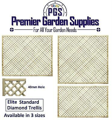 Elite Diamond Alderley Trellis Garden Lattice Climbing Various sizes 4-6 treated
