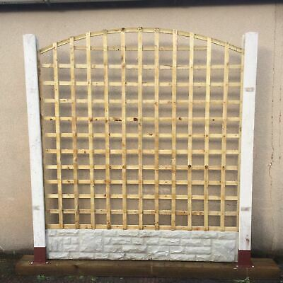 6x5 Heavy Duty Arched Dome Trellis Fence Topper Lattice TREATED Wood RRP £40