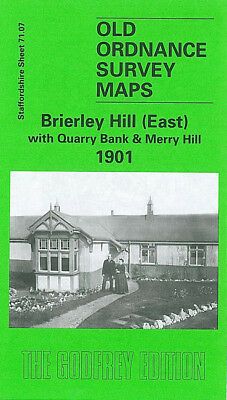 Old Ordnance Survey Map Brierley Hill East Quarry Bank Merry Hill 1901