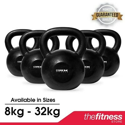 CLEARANCE CoreX Cast Iron Kettlebell - 8kg-32kg FAST FREE DELIVERY