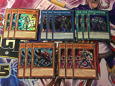Yu-Gi-Oh! Gouki Lot Set 15 Cards COTD German NM 1.aufl Link Cards