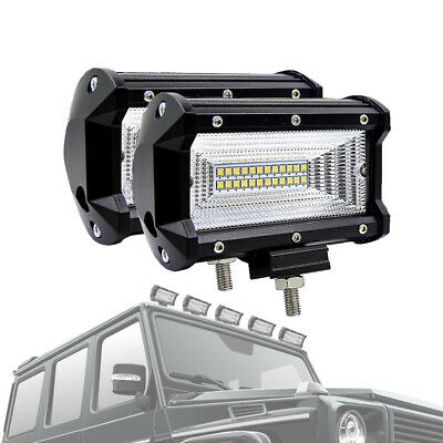 Flood 72W LED Work Lights Bar Car Driving Lamp For Jeep Truck Boat  Useful New
