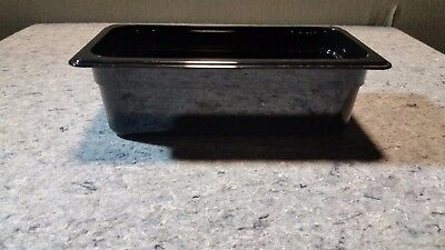 "NEW Cambro Camwear 1/3 Size Black Food Pan - 4"" Deep T48 Restaurant Hotel"
