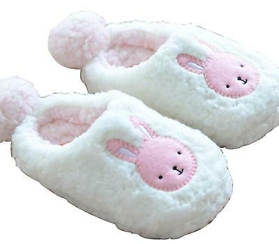 Women's Fashion Soft Warm Cute Adorable Bunny Slippers Fluffy Furry Classic USA