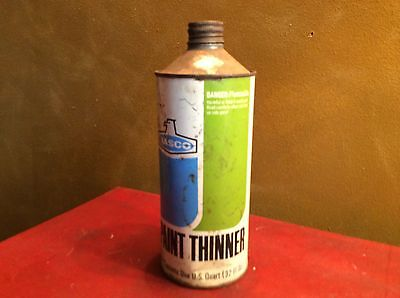 Vintage NASCO  Paint Thinner- Tin Can - One Quart Size