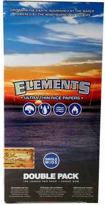 25 Pack Elements Ultra Thin Rice Single Wide Cigarette Paper 2500 Leaves 8311-25