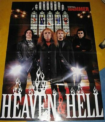 Black Sabbath Dio Heaven And Hell Rare Lot 2 Poster + Set Clippings Cuttings