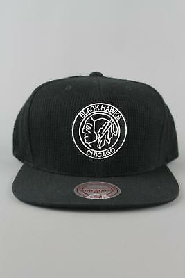 Mitchell & Ness Baseball Cap EU959 Waffle Snapback Chicago Blackhawks Black Hat