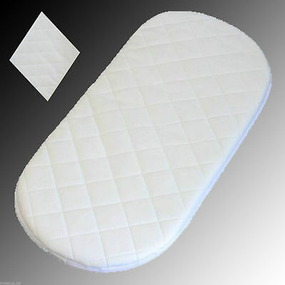 Soft Quilted Moses Basket and Crib Craddle Mattress Buy One Get One Free UK Made