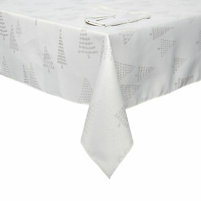 Home Collection Silver Christmas Tree Tablecloth And Napkin Set From Debenhams