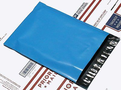 """10 Poly Mailers Envelope Shipping Supply Bags 6x9"""" blue color"""