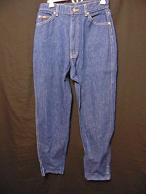"""LEE Riders Vintage 80s High Waist Jeans Sz 12 x I-27.5"""" Ankle Fit Union Made USA"""