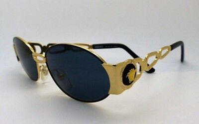Vintage GIANNI VERSACE S34 Sunglasses Mod. S34 Col. 09M Gold/Black With Medusa