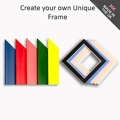 Color Picture Frames Any Size Bespoke Custom Made Blue Pink Red Green Yellow