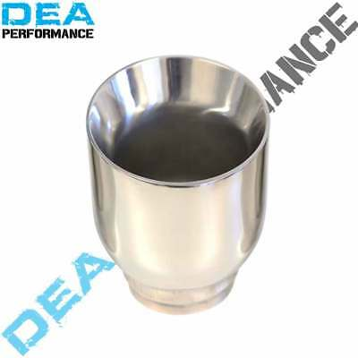 """Dea Exhaust Tip Dual Wall Angled Cut Stainless Steel 2.5'' Inlet 4"""" Outlet"""