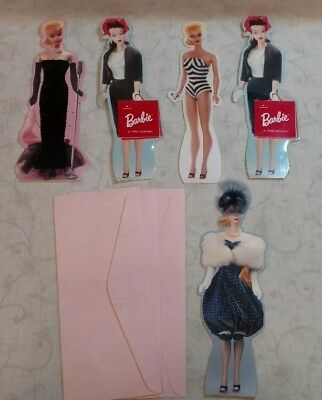 3 Vintage Barbie Hallmark 1994 Stand up Cards   2 (c) 1995 Barbie 1996 calendars