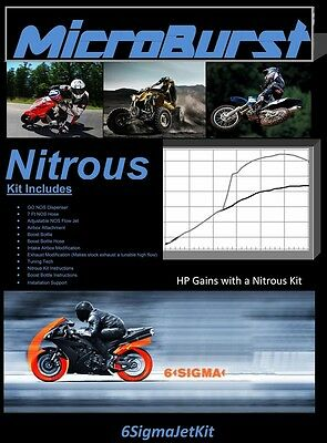 Honda Ruckus NOS Nitrous Oxide Kit NPS 50 Zoomer & Boost Bottle + Main Carb Jet