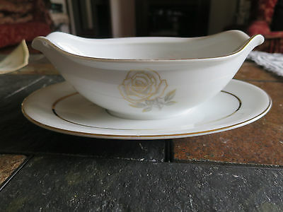 Rosa by Rose (Japan) China Gravy Boat with Under Plate
